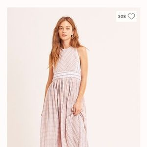 Free people color theory midi dress small